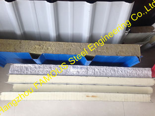 China Waterproof Insulated Sandwich Panels / Corrugated Roofing Metal Sheets supplier