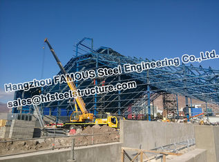 China Mine Industry PEB Structural Steel Fabrications Pipe Truss Structure supplier
