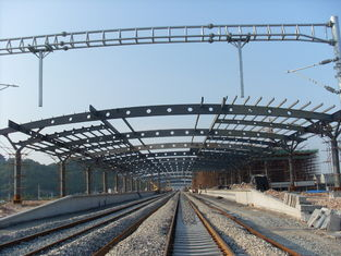 China Railway Station Structural Metal Truss Buildings, Rust-proof Painting with 2-4 Layers supplier