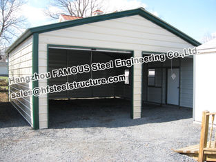 China Metal Garage Pre-engineered Building Steel Structure , Fabrication supplier