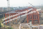 China Q235 Q345 Grade Industrial Steel Buildings , Building Steel Site Prefab Steel Buildings factory