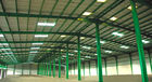 China Custom Fabricated Pre-engineered Building Steel Structure Building  Double Span factory