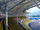 Steel Pipe Truss Adopted Steel Structure Fabrications Large Span Stadium