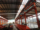 China Garments ASTM Steel Framed Buildings , Prefab 82 X 100 Light Industrial Steel Workshop factory