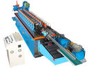 China 15KW Hat Channel Cold Rolling Machine With Cr 12 Blade Hydraulic Cutting factory