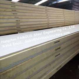 Polystyrene Refrigerator Room Panels 42kg Density With Color Steel / Stainless Steel Plate	External
