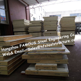 PU Camlock Sandwich Panels With Effective Width 1150mm , Thickness 50mm