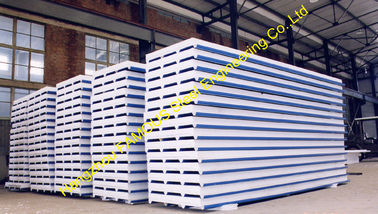 Prefab Corrugated Metal Roofing Sheets Sandwich EPS PU Rock Wool