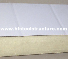 EPS / PU Metal Roofing Sheets Sandwich Panel Rock Wool For Wall For Roof