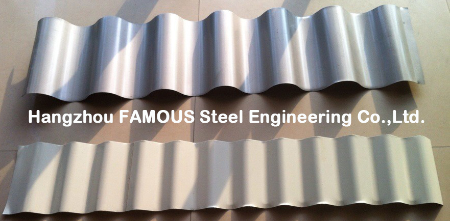 Fabricated Fireproof Metal Roofing Sheets Coated High Strength
