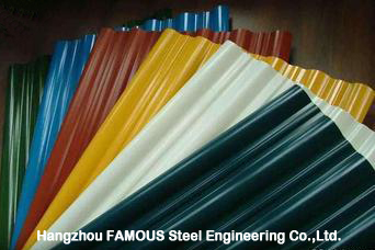 Industrial Metal Roofing Sheets For Wall Of Steel Shed Workshop Factory Building