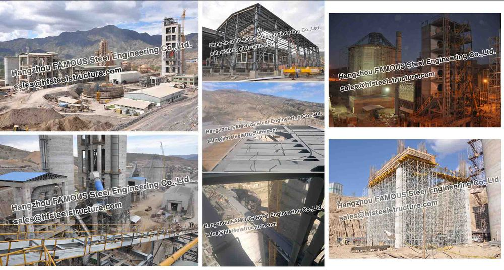 Industrial Structural Steel Fabrications Bolivia Cement Plant