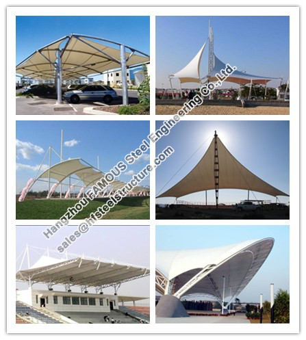 Stadium Commercial Steel Buildings Membrane Structure reinforced