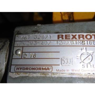 Rexroth Korea-North  Hydronorma pumps_1PV2V3-40/12RA01MS100 w/Motor