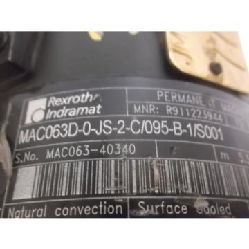 REXROTH Heard MAC063D-0JS-2-C/095-B-1/S001 SERVO MOTOR Origin NO BOX