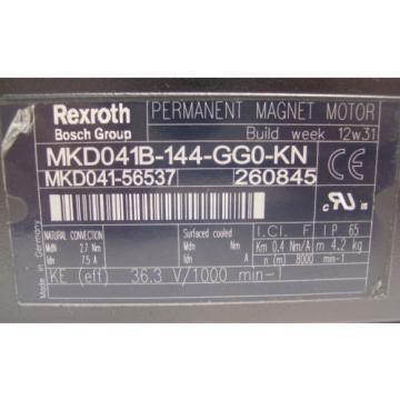 Origin Honduras REXROTH INDRAMAT  PERM MAGNET MOTOR  MKD041B-144-GG0-KN   60 Day Warranty