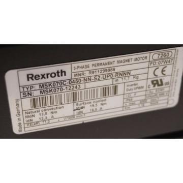 Origin Cyprus BOSCH REXROTH MSK070C-0450-NN-S2-UPO-RNNN SERVO MOTOR MSK070C0450NNS2UPORNNN