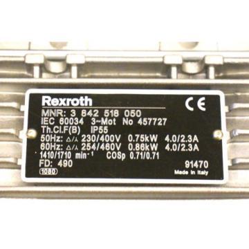 Origin Iran REXROTH 3 842 518 050 AC MOTOR 457727 3842518050