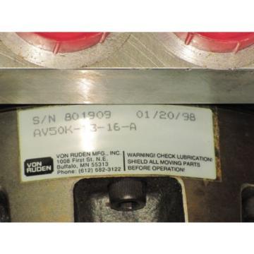 VON DominicanRepublic RUDEN HYDRAULIC MOTOR  AV50K-13-16-A