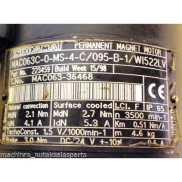 Rexroth Guadeloupe Indramat Permanent Magnet Motor MAC063C-0-MS-4-C/095-B-1/W1522LV