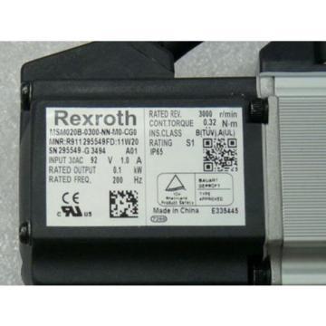 Rexroth Gambia Indramat MSM020B-0300-NN-M0-CG0 Servomotor MNR R911 295549FD 11 W 20 SN