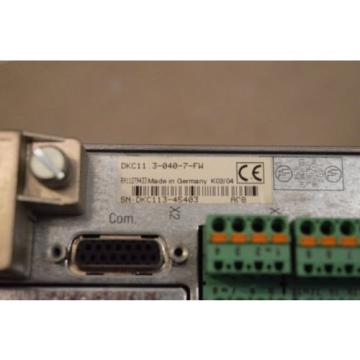 REXROTH Western Sahara  INDRAMAT DKC113-040-7-FW WITH FIRMWARE MODULE FWA-ECODR3-SMT-02VRS-MS