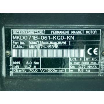 Rexroth Colombia Indramat MKD071B-061-KG0-KN mit Kupplung Rotex GS 19/24