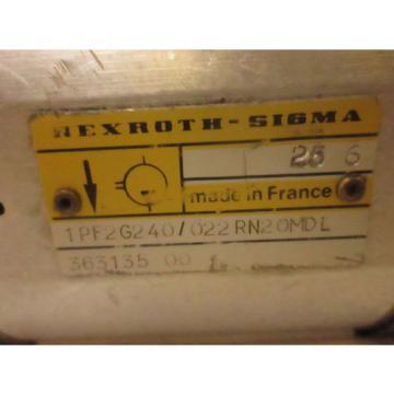 REXROTH Denmark SIGMA HYDRAULIC GEAR pumps 1PF2G240/022PN2OMDL