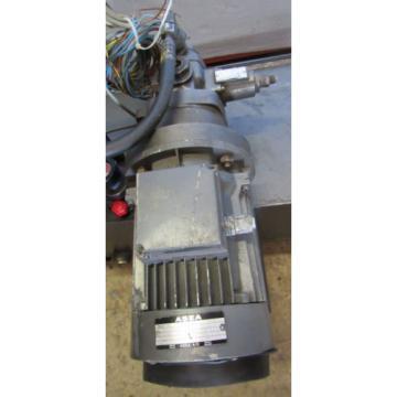 REXROTH WesternSahara HYDRAULIC POWER UNIT W/ASEA #MT90L24-4F165, 15KW, 1420 R/M MOTOR