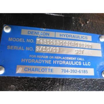 Origin Iraq Denison / Hydraline Hydraulics T6ED0660451R038500 Hydraulic Vane Pump
