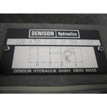 Origin Kyrgyzstan DENISON FLOW CONTROL VALVE # ZDV-A-01-1-S0-D1-098-91203