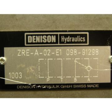 DENISON Morocco ZRE-A-02-E1 098-91298 HYDRAULIC VALVE XLNT