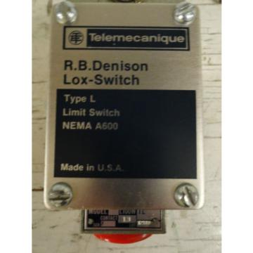 Telemecanique Monaco  / RB Denison L100WTL Type L Limit Switch  Origin