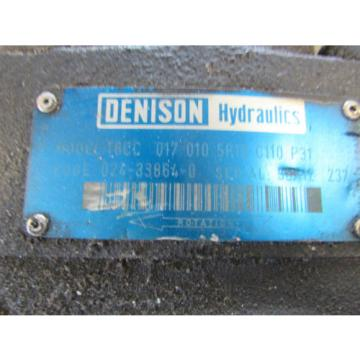 Denison Germany  Hydraulic Pump T6CC 017 010 5R10 C110 P31 Used