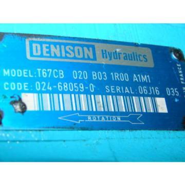 DENISON Japan T67CB-020-B03-1R00-A1M1 HYDRAULIC MOTOR XLNT