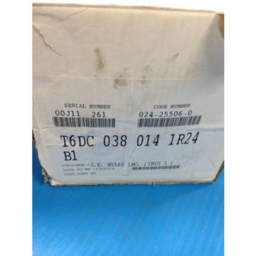 Origin erde PARKER DENISON HYDRAULICS T6DC-038-014-1R24-B1 DOUBLE VANE HYDRAULIC PUMP 1D