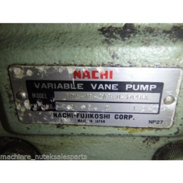 Nachi Variable Vane Pump VDC-1B-2A3-U-1048K_VDC1B2A3U1048K AS-IS