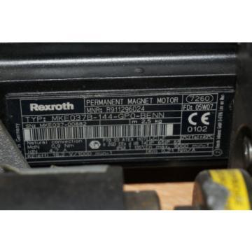 Rexroth Spain Indramat MKE037B-144-GP0-BENN Permanent Magnet Motor + BEHR Dürr Valve