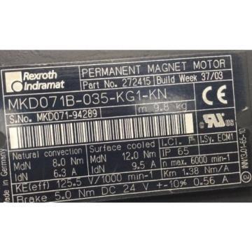 REXROTH-INDRAMAT Ecuador PERMANENT-MAGNET-MOTOR lt;gt; MKD071B -035 -KG1 -KN
