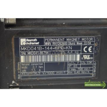 Rexroth Japan  Indramat Permanent Magnet Motor MKD041B-144-KP0-KN inkl LP 090-M02-50