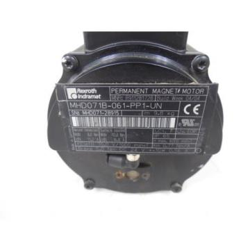 USED Christmas Island  Rexroth Indramat MHD071B-061-PP1-UN Permanent Magnet Servo Motor Loose Conn