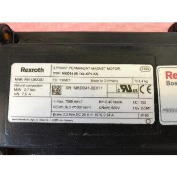 Rexroth Djibouti Indramat MKD041B-144-KP1-KN AC Servomotor gebraucht gut Regal 2/2/3