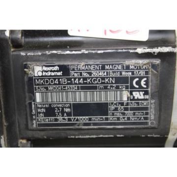 Rexroth Honduras Indramat MKD041B-144-KG0-KN Servomotor GTP095-M01-B03