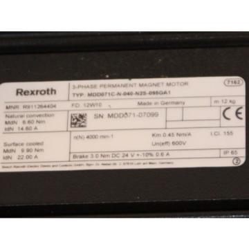 Bosch Lithuania Rexroth Indramat Servomotor MDD071C-N-040-N2S-095GA1 REM