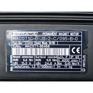 Rexroth Guadeloupe Indramat MAC071C-0-JS-2-C/095-B-0 Permanent-Magnet-Motor