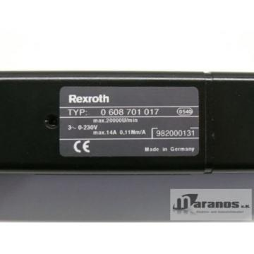 Origin Cook Islands  Rexroth 0 608 701 017 Bosch Motor 0-230V max 14A 0,11Nm/A max 20000U/min
