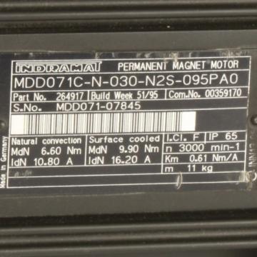 Bosch Gibraltar Rexroth Indramat Servomotor MDD071C-N-030-N2S-095PA0 NOV