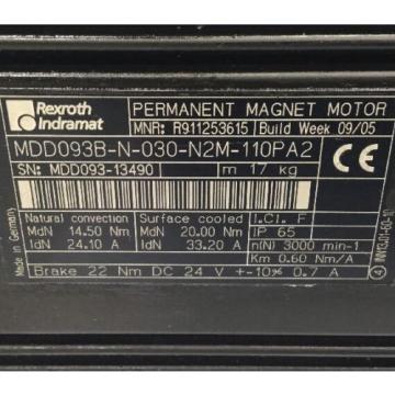 REXROTH-INDRAMAT Liechtenstein Perm-Magnt-Motor // MDD093B-N-030-N2M-110PA2