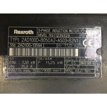REXROTH Korea-South   3-Phase Induction Motor 2AD100D-B050A2-AS03-B2N1