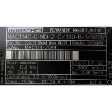 REXROTH Comoros INDRAMAT MAC114C-0-MD-2-C/130-B-1/S005 Servomotor - unused -
